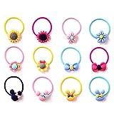 Bunte Haargummis,50 Stück Elastische Haargummis Set Multicolor Mini Haarband für Mädchen Baby DIY Frisur