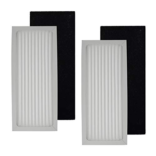 Replacement Filter Compatible with Hamilton Beach True Air Purifier 04383 04384 04385,Compare to Part # 990051000,2-Sets