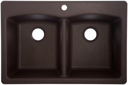 Franke EDDB33229-1 Granite Double Bowl Size trust Kitchen Max 50% OFF Sink M One