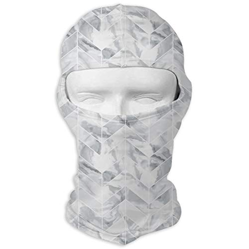 Marble Paper Full Face Mask Sun Dust Wind Protection Durable Breathable Seamless Face Mask Bandana