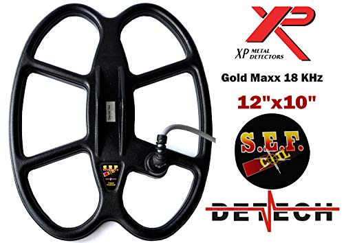 DETECH Search Coil For XP GoldMaxx Power 18KHz Metal Detectors With Coil Cover Included (12x10