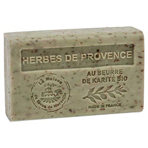 Maison du Savon de Marseille: Französische Seife mit Bio-Sheabutter, Duftkräuter der Provence, 125 g
