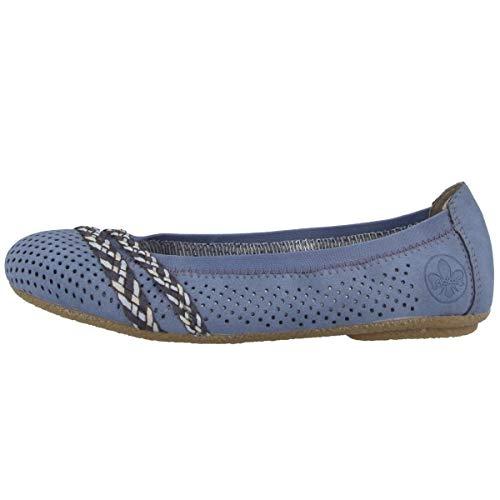 Rieker 41469-15 Größe 37 EU Blau (Jeansblau)