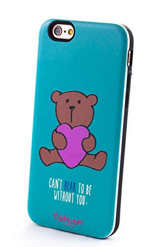 Bubblegum Fundas para iPhone 66S Genuine Animales & Alimentos cuotas Dibujos Animados Caso Protectora (Bear Oso)