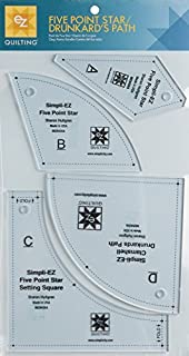 EZ Five Point Star Drunkards Path Acrylic Quilting Template