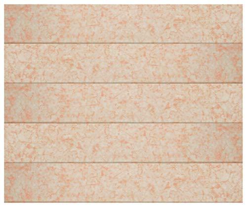 1 m² plafondpanelen | lichtbruine marmeren optiek | geëxtrudeerd polystyreen | interieur | decoratieve panelen | XPS | hexim | 100 x 16,7 cm | P-47