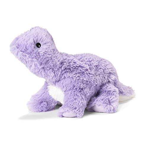 Intelex Warmies Microwavable French Lavender Scented Plush, Purple Dinosaur, One Size