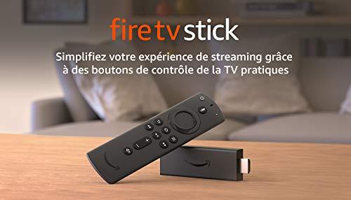 Fire TV Stick, Reconditionné Certifié | Avec télécommande vocale Alexa (avec boutons de contrôle de la TV), Son Dolby Atmos, Modèle 2020