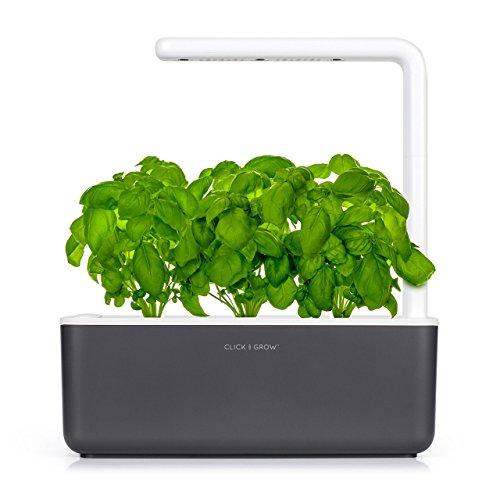 Click & Grow Smart Garden Jardinière avec 3 plants de basilique boue