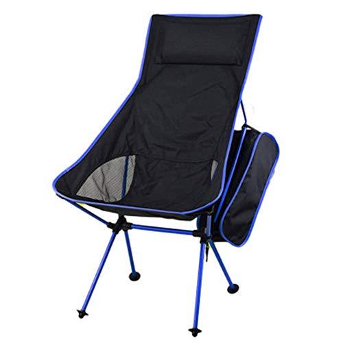 Syfinee Exterior Ultralight Plegable Silla con Bolsa de Almacenamiento para Camping Pesca - Azul Oscuro