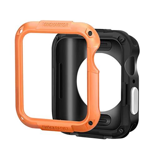Cubierta protectora para Apple Watch 6 SE caso 44mm 40mm 42mm 38mm PC caso para iwatch 6 5 4 3 2 anticaída marco Shell Accesorios