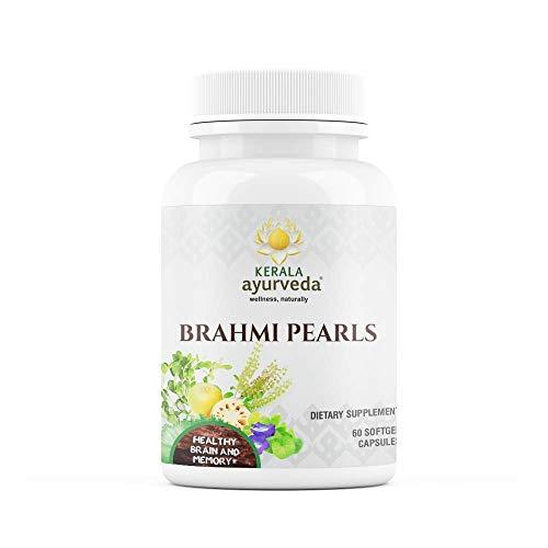 Kerala Ayurveda Brahmi Pearls Bacopa Lot de 60 herbes ayurvédiques pour le soutien du cerveau et la vivacité mentale