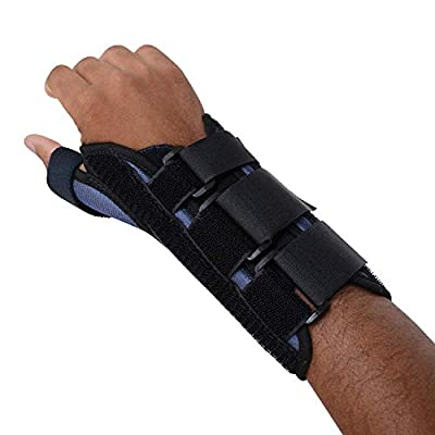 Sammons Preston Thumb Spica Wrist Brace, Thumb Splint, Wrist Splint for Wrist Support, Wrist Brace, Thumb Brace for CMC & MC Joints, Wrist Spica, Thumb Spica, Thumb Support, Left Hand, Medium