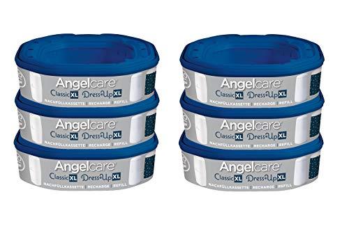 Angelcare Nachfüllkassette für Windeleimer Dress-Up und Classic XL, Größe:6 Stück