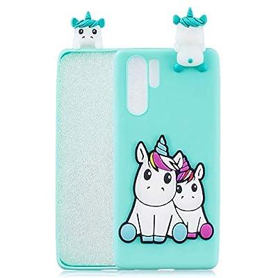 HopMore Divertidas Funda para Samsung Galaxy Note 10 Plus/Pro Silicona Blando Dibujo 3D Panda Animal Carcasa TPU Gel Ultrafina Slim Case Antigolpes Caso Protección Cover Gracioso - Unicornio Verde