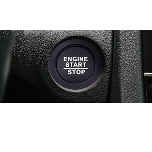Ninuypoy Motor de Coche, Encendido, Arranque, Parada, botón pulsador, Interruptor, Anillo, embellecedor, Cubierta, Accesorios, Funda sin Orificios, para Honda, Pegatina de Estilo de Coche