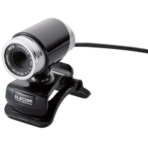『【2011年モデル】ELECOM WEBカメラ 200万画素 1/4インチCMOSセンサ ガラスレンズ搭載 筒型 イヤホンマイク付 ブラック UCAM-DLA200HBK』のトップ画像