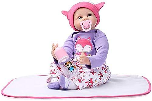 IIWOJ Reborn Baby Doll 55cm Simulation Niedliche Weißhe Silikonpuppe Fotografie Requisiten