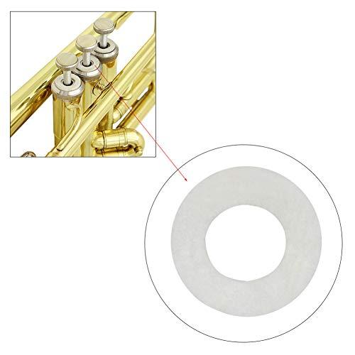 XuBa 10st White Trumpet Press Pads voor reparatie trompet onderdelen