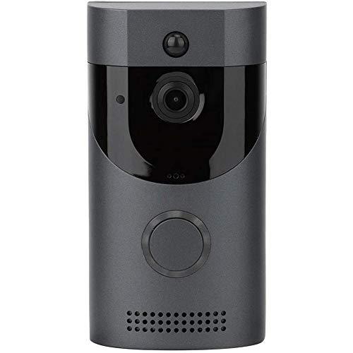 TOOGOO Timbre InaláMbrico con CáMara, Timbre con Video Inteligente, Timbre de Seguridad para el Hogar InaláMbrico con Video HD