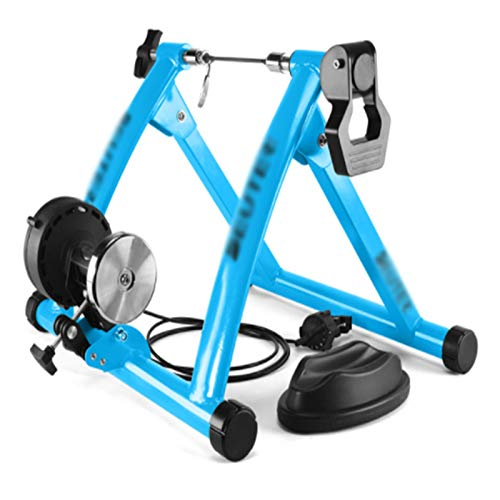 TGhosts Bike Trainer, Indoor Cycling Bike Trainer Roller MTB Road Bicycle Cycling Fitness Workout Tool (Color : Blue)