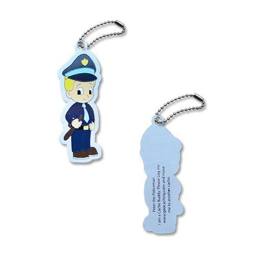 Pete the Policeman Polizei Geocaching Trackable Traveltag Travelbug Geocoin, Trackables, TB, Coin,