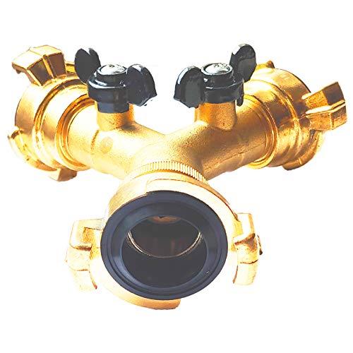 Qualitäts Schnellkupplung System aus Messing für Wasserschlauch Kupplung Tülle passend zu System Geka   Ausführungen einfach auswählen >>> Zweiwege-Verteiler Schnellkupplung Systemgröße