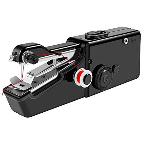 Mini Máquina de Coser de Mano, Máquina de Coser Eléctrica Portátil para el Hogar para Manualidades de Ropa de Bricolaje y Viajes a Casa
