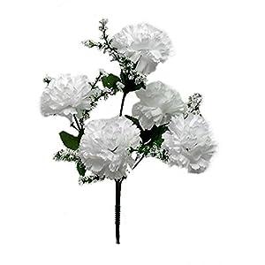 Wedding Flowers 13″ Carnation Bush ArtificialSilk Bridal Bouquets Home Party Decor 5 Carnations