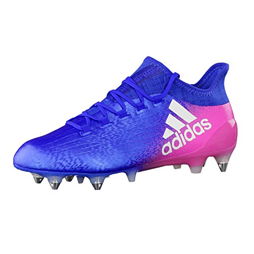 adidas Herren X 16.1 Soft Ground Football Boots Hallenschuhe, Mehrfarbig (Multicolour Blue), 42 EU