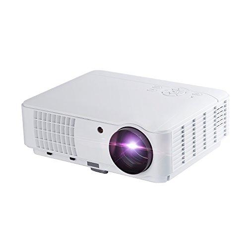 Beamer YKS HD Portble 2600 lumen projector, LED LCD USB thuisbioscoop videoprojector 800x480 standaard resolutie ondersteunt 1080P TV AV HDMI VGA voor thuis, presentatie, onderweg