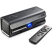Mini Beamer,iRULU DLP Projektor Heimkino,H6 Full HD Tragbarer Beamer für Haus Hauswand 1080P Videobeamer Kompatibel mit HDMI VGA für Fernseher TV