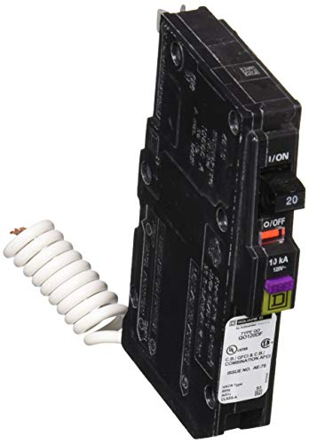 Square D by Schneider Electric QO 20 Amp Single-Pole Dual Function (CAFCI and GFCI) Circuit Breaker