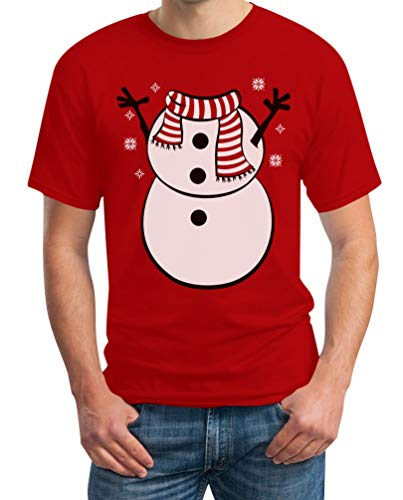 Ugly Christmas sneeuwpop pak heren T-shirt