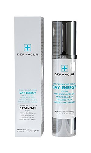 Professional Daily Hydrating Cream Day-Energy with Wheat-Germ Oil, Karite, Hyaluronic Acid & Mineral Salt/Profesional todos los días crema hidratante hialurónico ácido UV Factor 50ml Rep. Checa