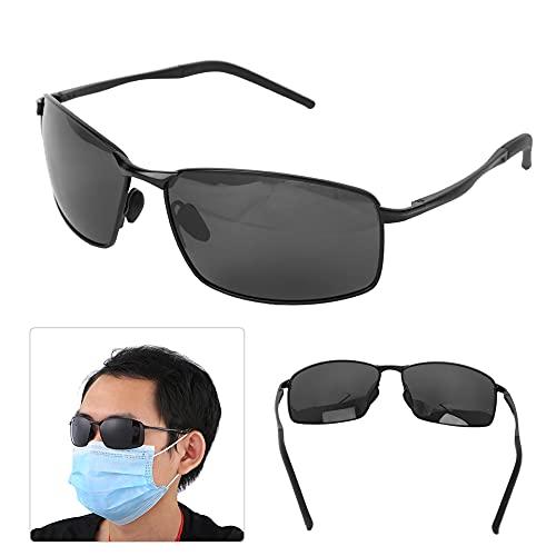Changor Muchos Polarizado Gafas de Sol, Emergencia Proteccion Productos Noche Visionglasses Petróleo Prueba Acolchado Motocicleta Gafas de Sol TAC y Metal