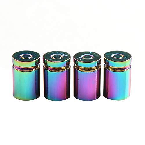 KKmoon 4 Stücke Auto Ventilkappen Universal Reifen Ventilkappen Abdeckung für Auto Motorrad PKW LKW Offroad Mehrfarbig