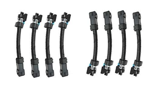 Michigan Motorsports LS1 LS6 LT1 EV1 Injector Harness to Multec LQ4, LQ9 4.8 5.3 6.0 Delphi Adapters
