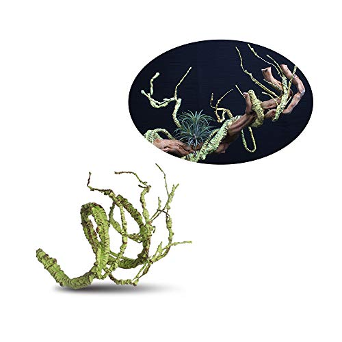 HXHON Künstliche Reben für Reptilien, Reptilien, Kastenstruktur, Regenwald, Landschaftsbau, künstlicher Zweig, Regenwald, Dekoration für Frosch, Chamäleon