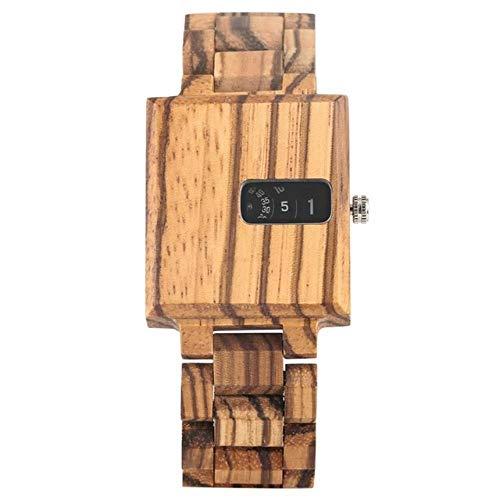 FMXKSW Wooden watch, Men's Watch Wooden Watches Creative Turntable Design...