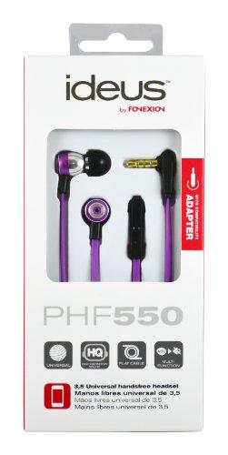 Ideus PHF550BK - Auriculares in-ear con micrófono, púrpura
