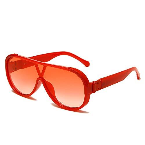 chuanglanja Gafas De Sol Juveniles Gafas De Sol Grandes Ovaladas Para Mujer Gafas De Sol De Gran Tamaño Vintage Gafas De Moda Para Hombre y Mujer UV400-Color-F