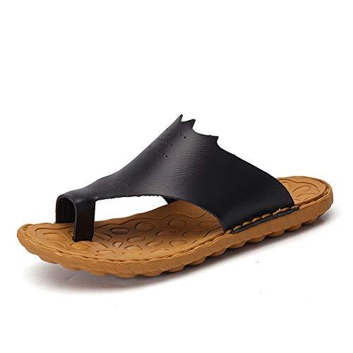 Yaunli - Sandalias antideslizantes para hombre, para hombre, sandalias de verano, zapatos de playa al aire libre, zapatos de playa, pu, negro, 38