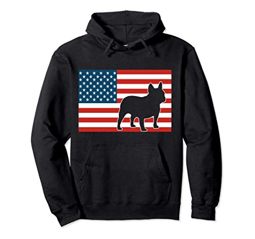 frenchie bulldog shirts Frenchie 4th of July French USA Flag Pullover Hoodie