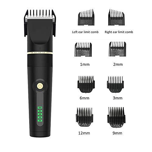 XIAOKUKU El Pelo de los Hombres Clipper Conjunto con 3~12mm límite de Peine, Conveniente para los Principiantes para Recortar el Cabello, la Barba y el Vello Corporal en el hogar