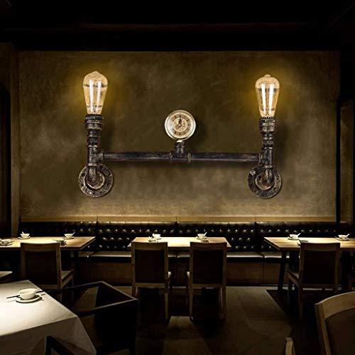 Se enciende la lámpara de pared de la pared interior de la sala Características decoración de la pared Decoración Cine Homenaje Luces de Té Agua Limpia Bar Bar decorativo personalizado for sala de jue