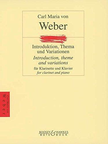 Introduktion, Thema und Variationen: Klarinette und Klavier.: für Klarinette und Klavier