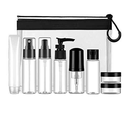 Scopri offerta per Kit Viaggio Liquidi Contenitori Cosmetici-(9 Pezz) Set da Viaggio,Accessori da Viaggio,Contenitori Liquidi per Cosmetici - Kit de Porta Liquidi Flaconi Accessori (Trasparente)