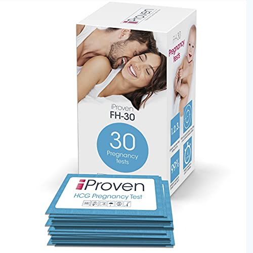 Pregnancy Test Early Detection - 30 Pregnancy Tests - Early Pregnancy Test - Extra Sensitive HCG Test Strips - Pregnancy Tests in Bulk/Kit for Trying to Conceive Women - iProvèn FH-30