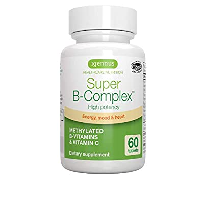 Super B-Complex - High Strength B Vitamins with folate, B6 & B12 plus vitamin C, 60 tablets